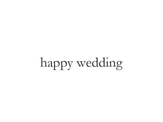 ウェディングスタンプ メッセージ(happy wedding) WD-74