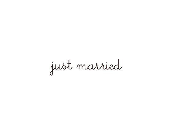 ウェディングスタンプ メッセージ(just married) WD-76