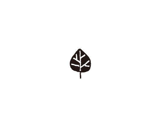 ウェディングスタンプ プチスタンプ 葉っぱ1