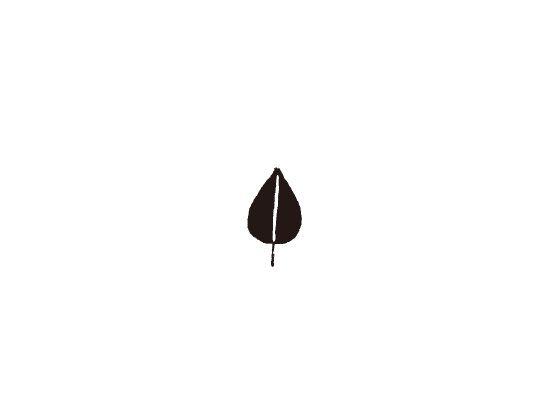 ウェディングスタンプ プチスタンプ 葉っぱ3