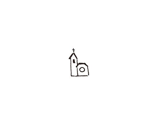 ウェディングスタンプ プチスタンプ 教会