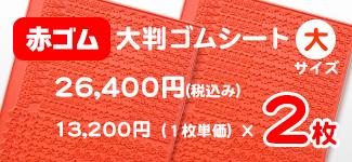 大判スタンプゴムシート 赤ゴム 大サイズ2枚セット